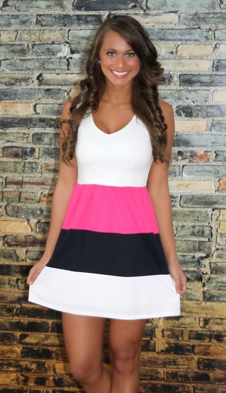 The Pink Lily Boutique - Still In Love Colorblock Dress, $39.00 (http://thepinklilyboutique.com/still-in-love-colorblock-dress/)