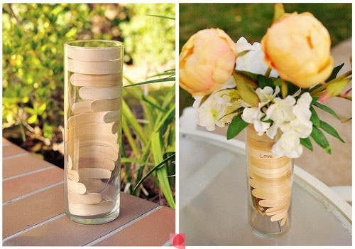 """Brico vase batonnet """"LOVE"""""""