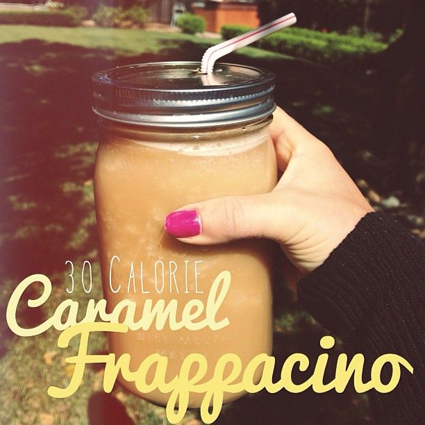 only 30 calories, and they can even be lowered. - Recipe: 1 cup ice  1/3 cup almond milk  2/3 cup coffee  2 tbsp walden farms caramel or cocoa powder or any other thing like that  2 packets truvia  dash of redi whip