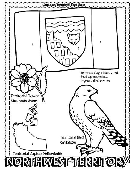 Canadian Territory - Northwest Territory coloring page Helpful for memory work with Claritas Classical Academy Cycle 3 Geography http://claritasclassicalacademy.com/Curriculum.html