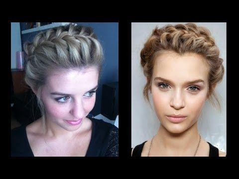 halboffene Haare - schnell und einfach gestyled [Frisuren Freitag] - YouTube