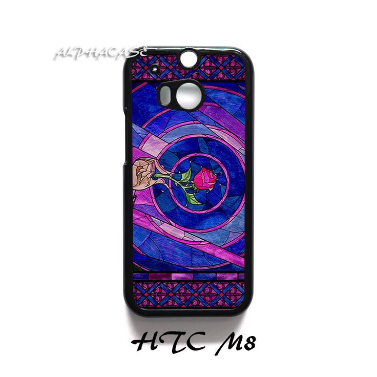 Stained Glass Beauty and The Beast HTC One M8 Case Cover