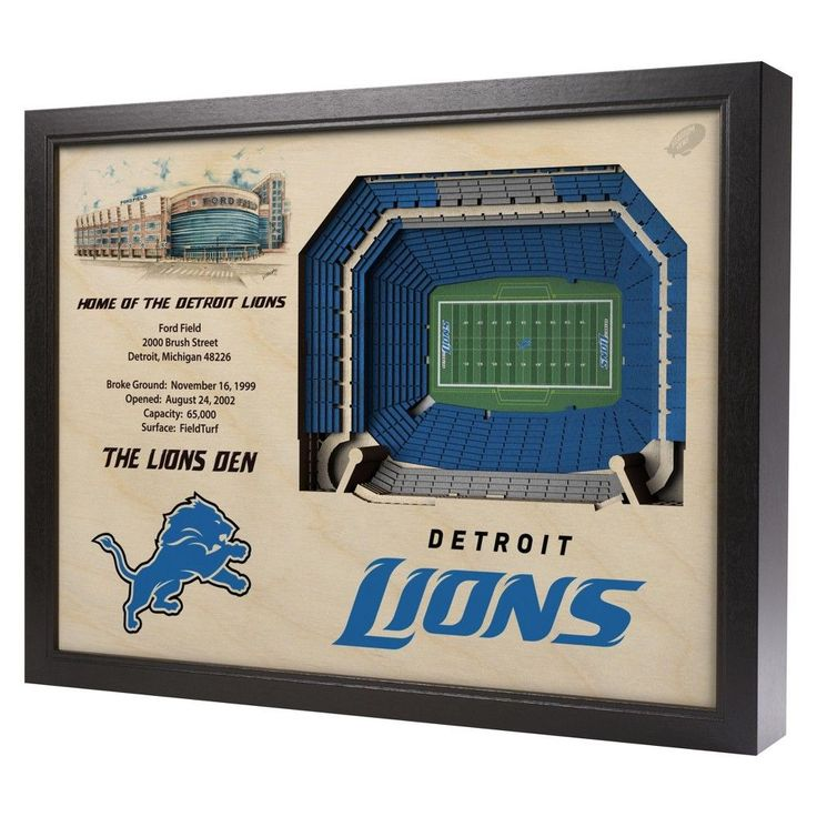 NFL Detroit Lions StadiumViews Wall Art - Ford Field