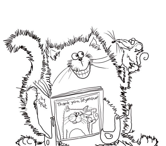 Coloring Pages Of Le Trees : 17 best images about cats to color on pinterest