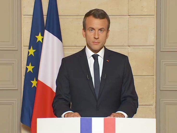 French president excoriates Trump in English over his withdrawal from climate deal