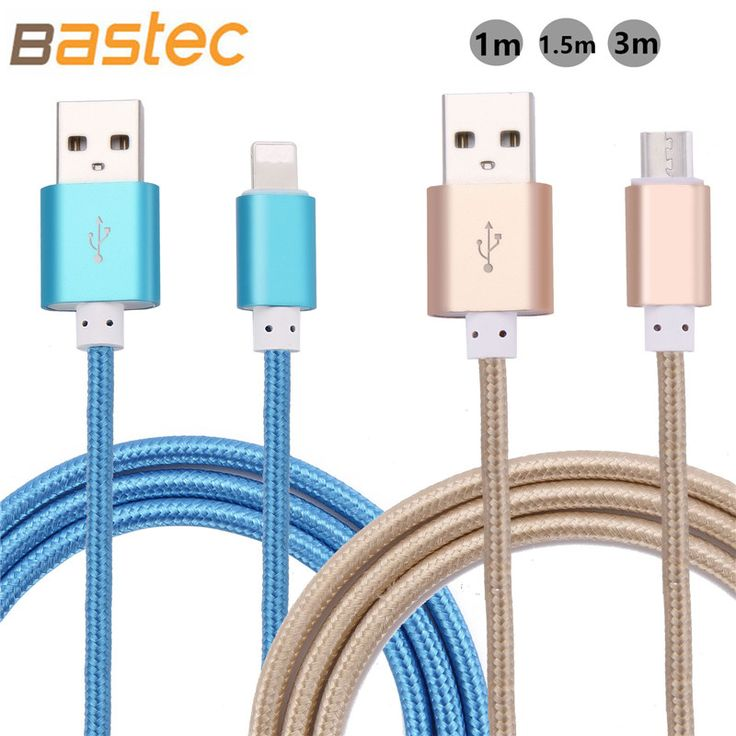 Micro USB Cable 2.1A 1M 1.5M Data Sync Cable Charge For iphone 6 6s Plus 5s ipadmini Samsung Galaxy S4 S3 HTC LG Sony Microusb