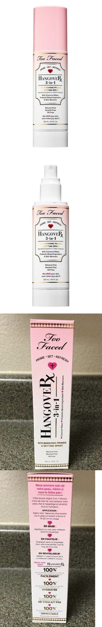 Foundation Primer: Too Faced Hangover 3 In 1 Replenish, Primer And Setting Spray Full Size~Authe~ -> BUY IT NOW ONLY: $33 on eBay!