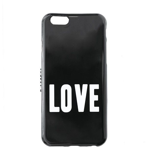 Givenchy i-Phone 6 Love case ($117) ❤ liked on Polyvore featuring men's fashion, men's accessories, men's tech accessories, nero and givenchy