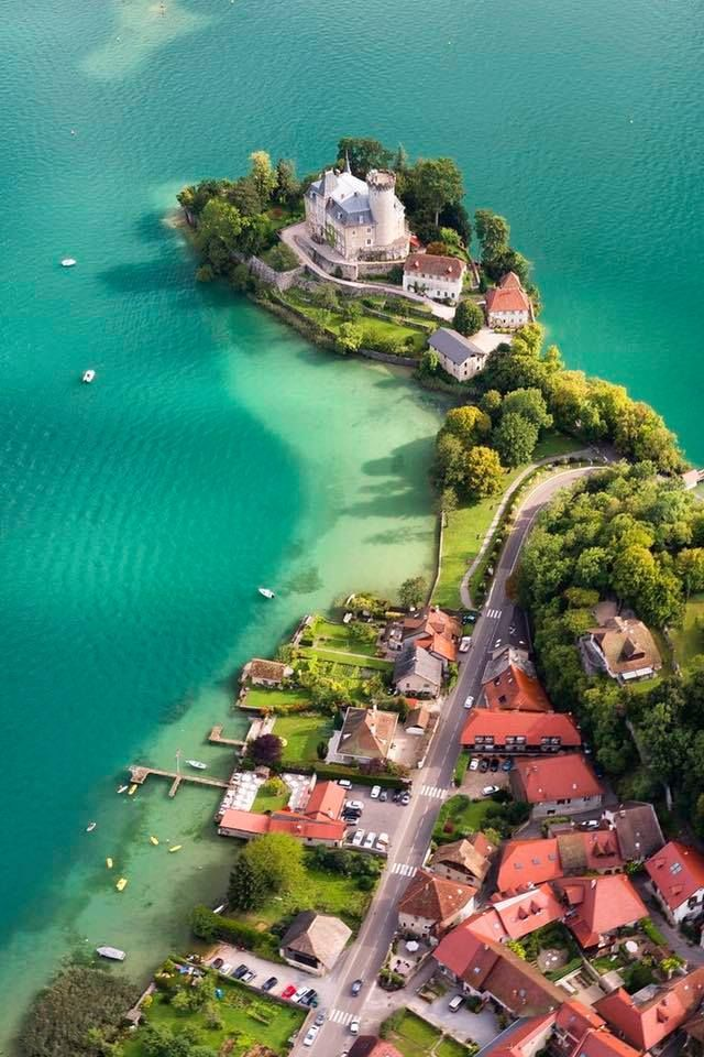 Ruphy Castle on Annecy Lake in Fr.