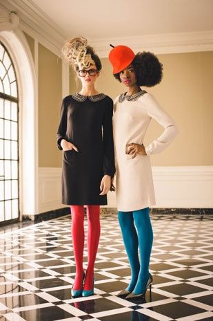 dresses, tights, and fabulous hats Twirling Clare: colored tights