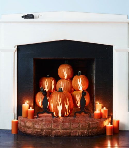 Fireplace Halloween Decorations: 31 Best Images About Alternative Fireplace Ideas On