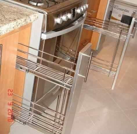 Herraje para cocinas condimenteros botelleros especieros for Muebles de cocina 1 80m