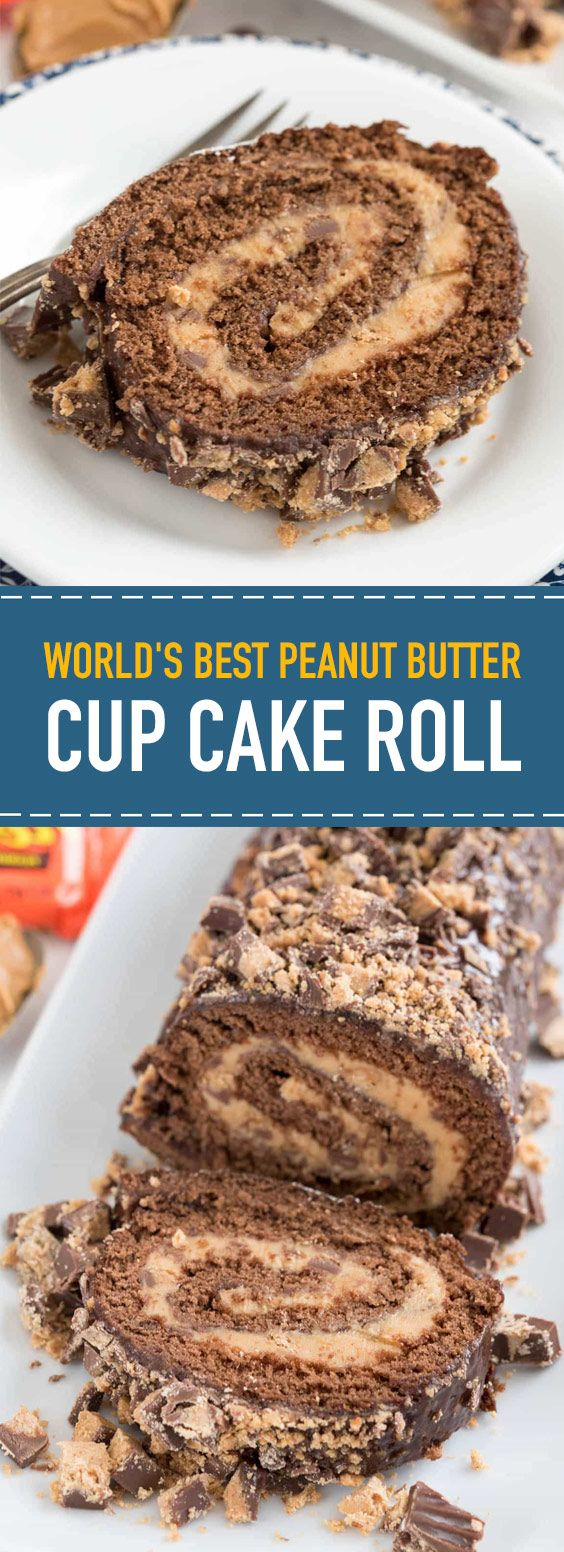 World's Best Peanut Butter Cup Cake Roll