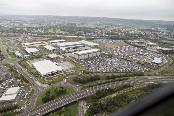 This photo was taken at the car park investment at Glasgow Airport from Park First