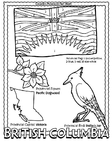 Canadian Province - British Columbia coloring page Helpful for memory work with Claritas Classical Academy Cycle 3 Geography http://claritasclassicalacademy.com/Curriculum.html