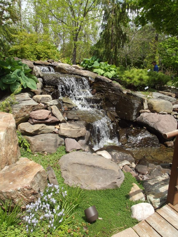 1000 Ideas About Rock Waterfall On Pinterest Diy