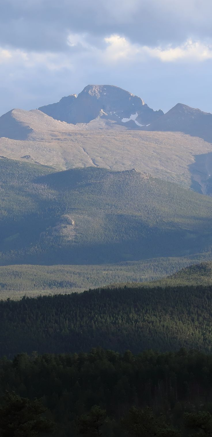 Longs Peak in Colorado.  Rocky Mountain National Park.