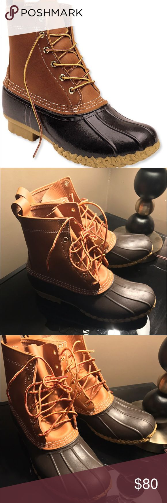 L L bean bean boots men size 10 New without box These shoes are new, the only wear shown is just from trying them on a few times but never wearing them outdoors these retail $120 L.L. Bean Shoes Boots
