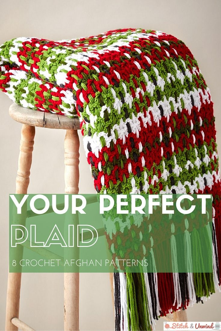 Your Perfect Plaid: 8 Crochet Afghan Patterns