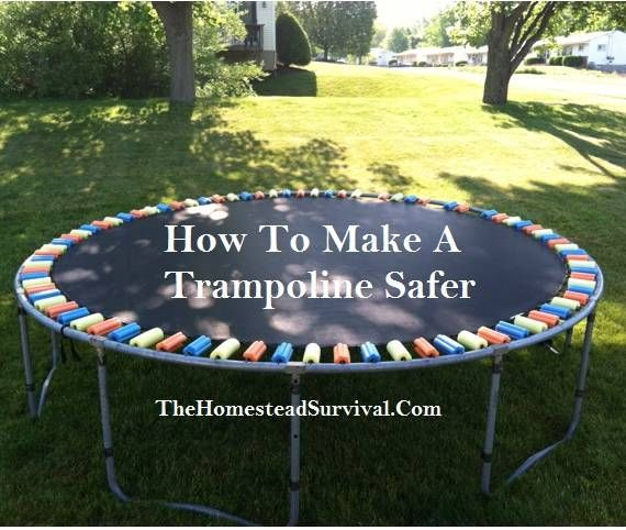 How To Make A Trampoline Safer » The Homestead Survival