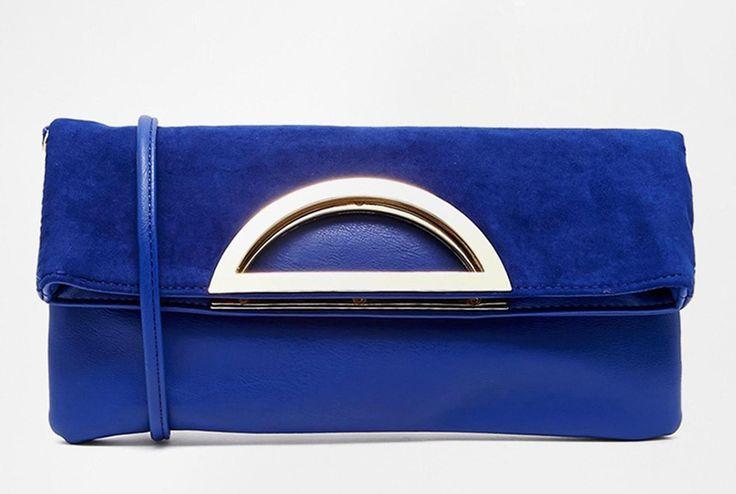 ALDO Seikola clutch in cobalt, found on ASOS – $67.31