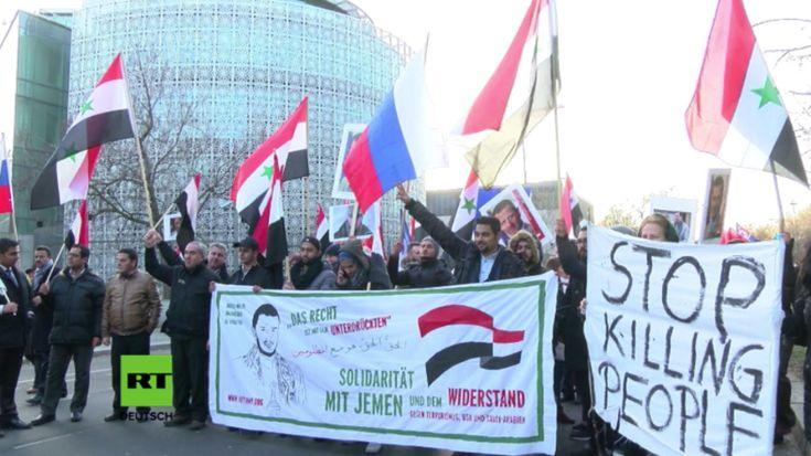 Berlin: Stoppt die Hilfe für Terroristen - Protest vor saudischer, türkischer und US-Botschaft