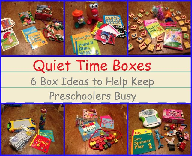 Quiet Time Boxes  - Encourage. Play. Learn.
