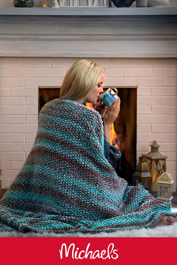 Loops Threads Copenhagen Seed Stitch Knit Throw