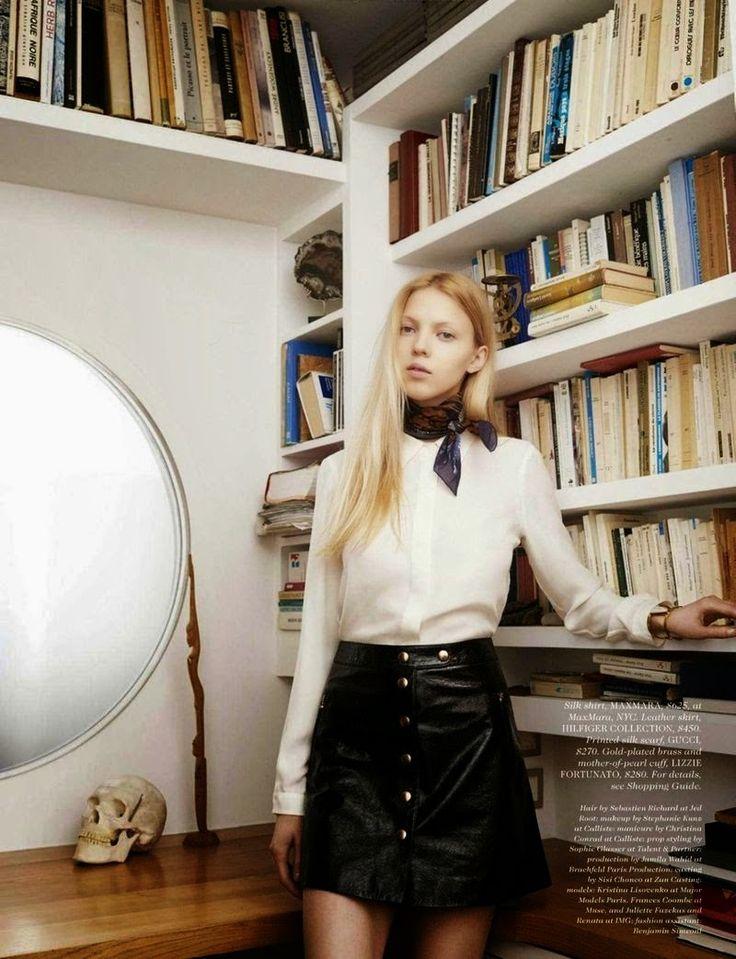Model @ Horst Diekgerdes for ELLE, April 2015