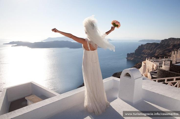 #Casamento  Santorini