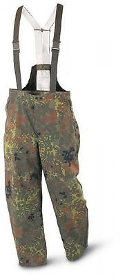 Pants and Shorts 181360: New German Army Flecktarn Sympatex Bib Pants ( Choice Of Size ) Military Surplus BUY IT NOW ONLY: $44.99