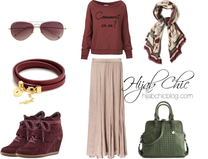 Hijab Outfit: Wedge Sneaker