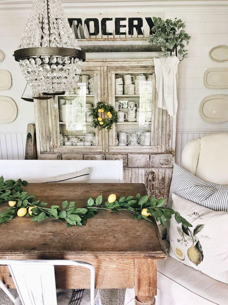 farmhouse lemon decor - dining room lemon decor