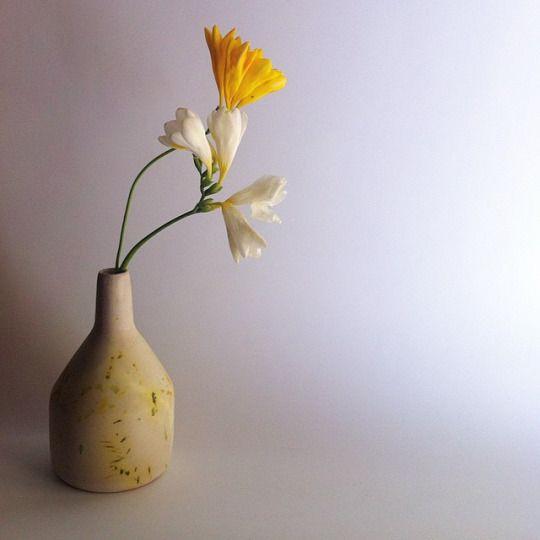 Majolica glazed ceramic vase
