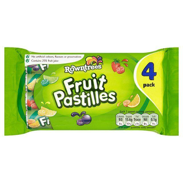 Rowntrees fruit pastilles 4x 52.5g £2.69