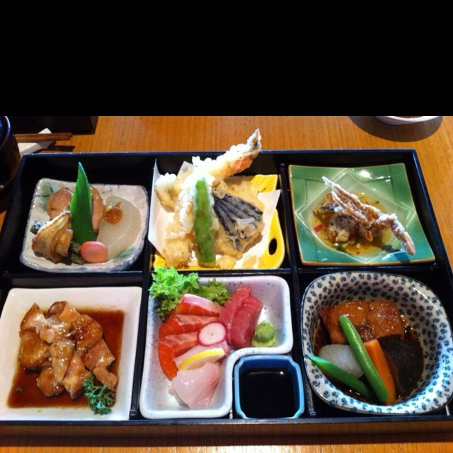 The best Bento Boxed Lunch I've had ... You can enjoy it too at Sono Japanese Restaurant at Hamilton Harbour, Brisbane Australia