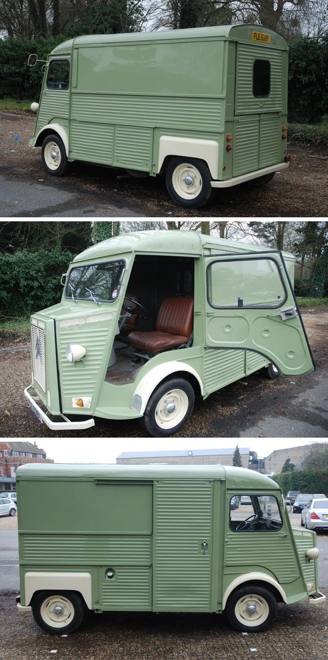Citroën Type H 1981. Camping-truck. bleu and a white roof, looking in France for old Citroen-parts.