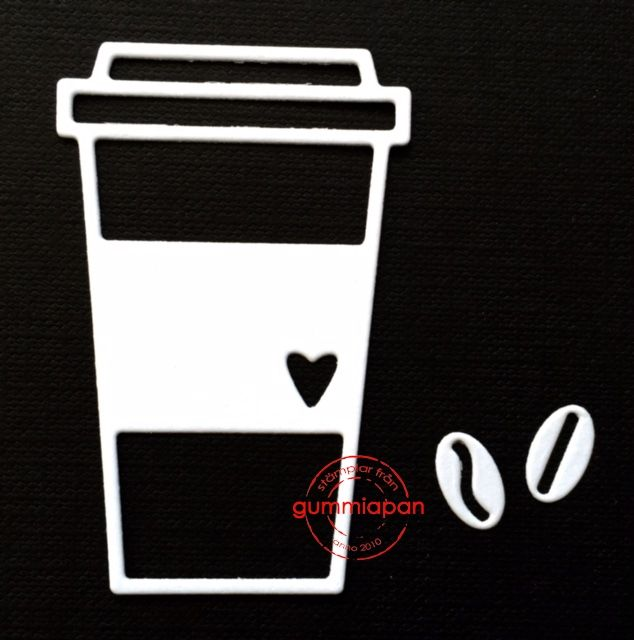 Gummiapan die d160425 Kaffemugg