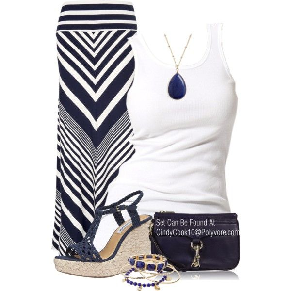 """Blue and white"" by cindycook10 on Polyvore"