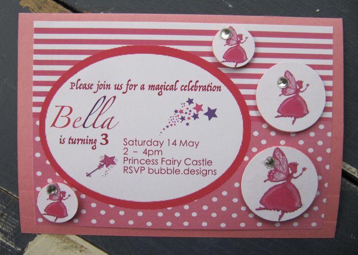 Handmade Fairy Party Invitation