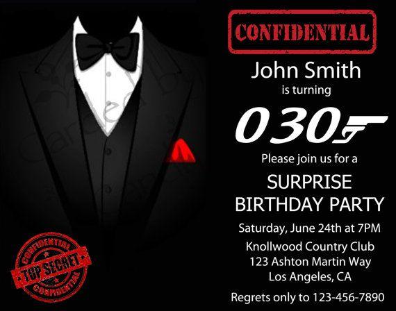 44 best images about Bond party – James Bond Party Invitations