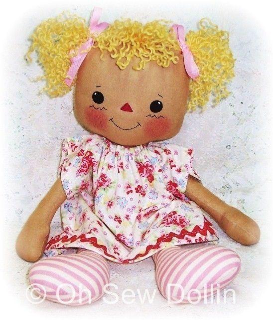 Cloth Doll Pattern Rag doll pattern PDF Sewing por OhSewDollin