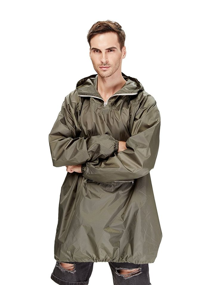 Raincoat Easy Carry Rain Coat Jacket Poncho In a Pouch ...