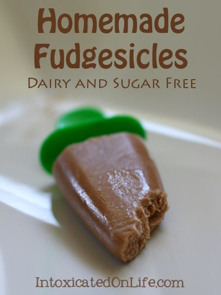 Homemade Sugar Free Fudgesicles {Dairy and Sugar-Free}