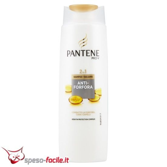 PANTENE SHAMPOO E BALSAMO 2IN1 ANTIFORFORA 250ML Shampoo e balsamo Pantene combatte la forfora, si prende cura dei capelli Keratin protection complex CONSIGLI D'USO: PER CHI: vuole combattere e p...