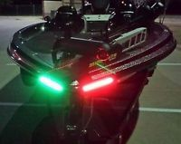 """Boat Bow LED Lighting RED & GREEN - 8"""" Strips Fully Submersible"""