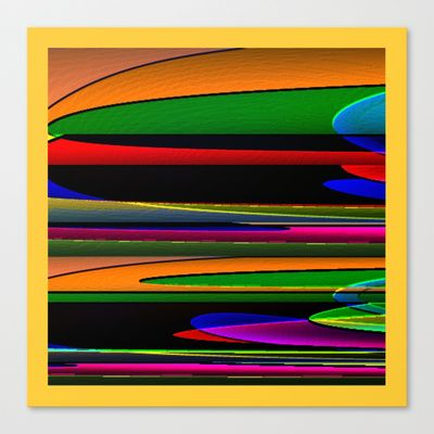 Qbist serie #2 Stretched Canvas by Mittelbach Marenco Florencia