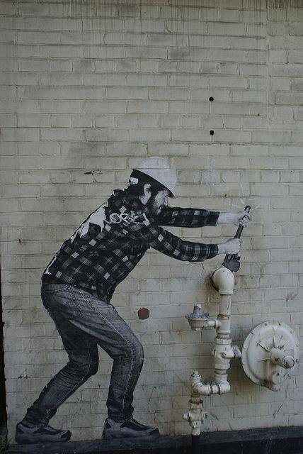 Toronto: Plumber Street Art  crazyTORONTO.com @TheCrazyCities
