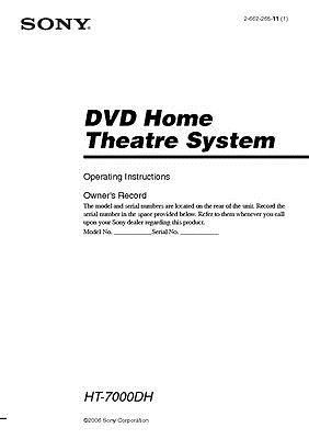 sony str k7000 ht 7000dh av receiver owners manual manuals and rh in pinterest com sony receiver instruction manual sony receiver user guide