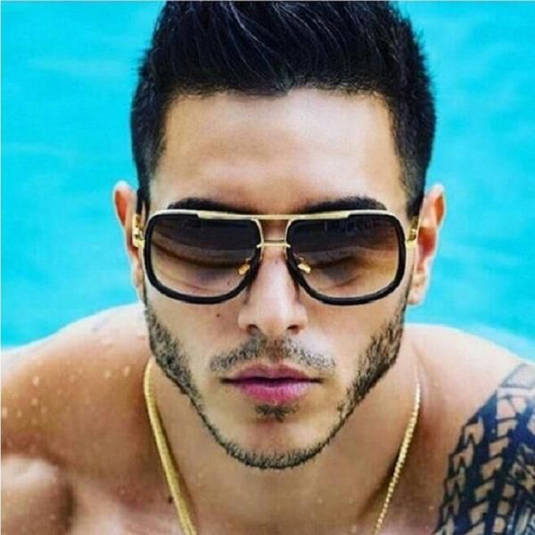 66196028b7200  FASHION  NEW 2018 Brand Design Men Sunglasses Vintage Double-Bridge Driving  Male Sunglass Mirror Women Sun Glasses Men Eyewear Oculos de…